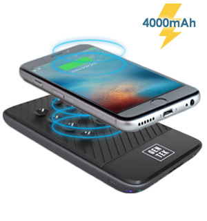 Wireless Charger Suction-Cup Powerbank 4000mAh - #8738