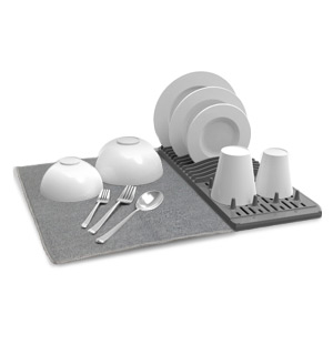 Dish Drying Mat & Rack by HomeEase - #8747