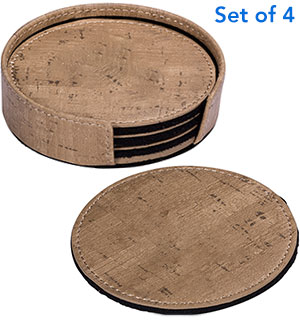 Set of 4 Coasters with Caddy - #8751