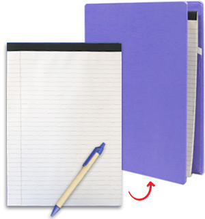 Recycled Hardcover Padfolio with Notebook