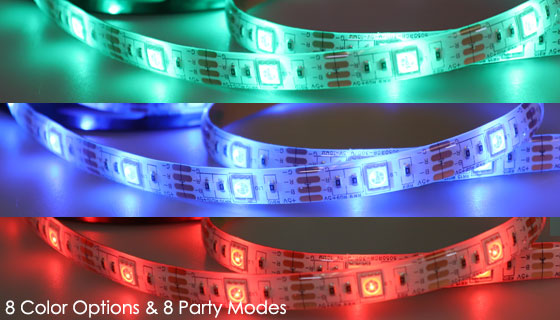 Sound Activated LED Light Strips with Remote