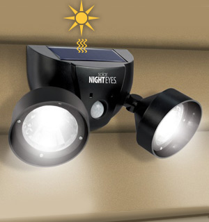 Solar Night Eyes Safety Lights with Alarm and Motion Sensor