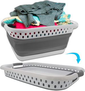 Collapsible Laundry Basket - Space Saving and Strong - #8776