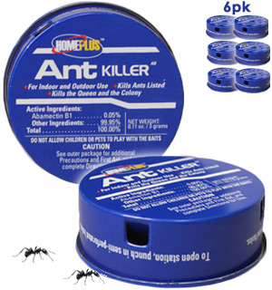 HomePlus Ant Killer Bait Stations 6pk - #8783