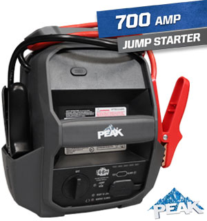 Portable 700 Peak Amp Jump-Starter and Power Station - #8799