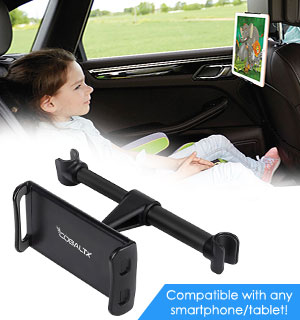 Adjustable Headrest Mount for Tablets and Phones - #8800
