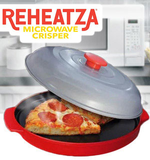 Reheatza Microwave Crisper - The Best Way to Reheat Pizza and mor… - #8808