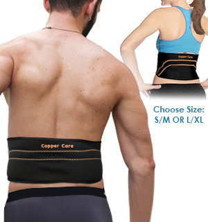 Copper Infused Compression Back Brace by Copper Care - #8818