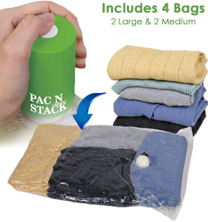 Pac N Stack Vacuum Air-Tight Storage Bag… - #8819