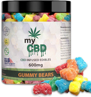 MyCBD-Infused Gummy Bear Edibles 600mg (Hemp-Derived, No THC) - #8825