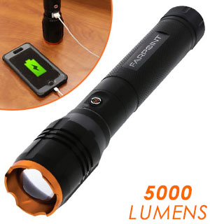 5000 Lumen Rechargeable Flashlight with … - #8826