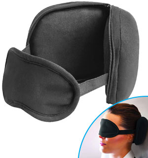 Super Comfy 2-in-1 Travel Pillow And Eye Mask - #8829