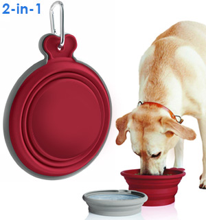 Collapsible Food and Water Bowl For Pets - #8830
