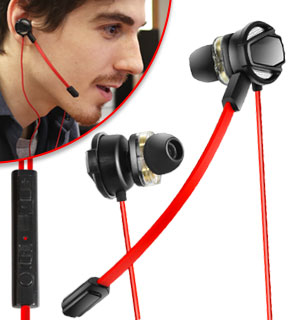 Gamer Earbuds with Detachable Microphone - #8838