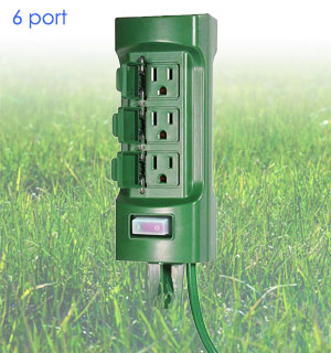 6 Outlet Outdoor Ground Socket - #8840