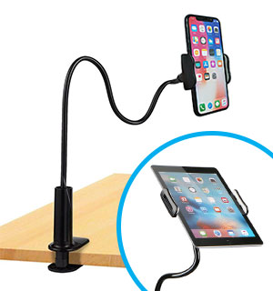 Hands-Free Universal Adjustable 2 in 1 Smartphone/Tablet Stand