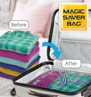 Magic Saver Travel Vacuum Bags - Set of 6 - #8852