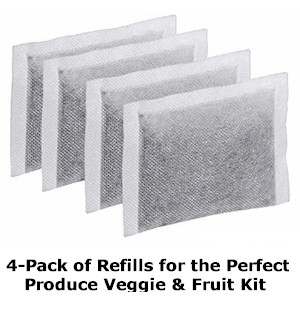 REFILL 4-Pack for Perfect Produce Veggie And Fruit Crisper - #8858REF