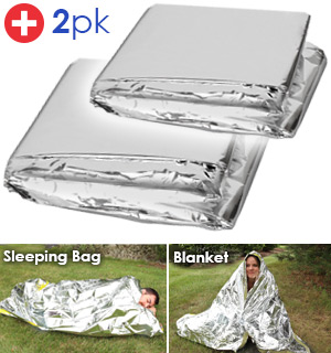 Emergency Sleeping Bag And Blanket Kit: Stay Dry, Warm, And Off The Ground - #8865