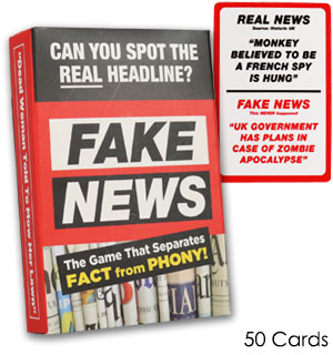Fake News Trivia Card Game - #8871