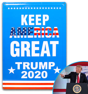 'Keep America Great' Trump 2020 Metal Sign - #8876