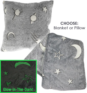 Glow In The Dark Blanket and Pillow - #8879