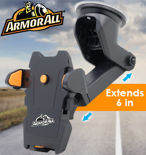 Dashboard Phone Mount with Extendable Arm by Armor All - #8886