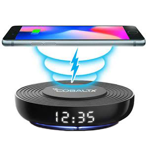 Wireless Charging Pad with Digital LED Clock by CobaltX - #8888