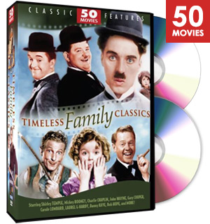 Timeless Family Classics Collection - 50 Features Films on 12 DVDs - #8899
