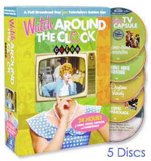 Watch Around the Clock: 24 Hours of TV in Color - DVD + Digital Collection - #8900