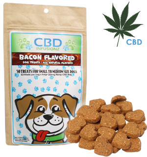 All-Natural 5mg CBD Dog Treats: 50pcs Bacon Flavor - #8903