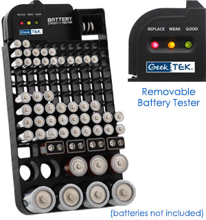 108 Capacity Battery Caddy With Tester - #8905