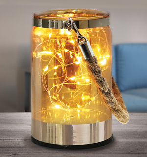 Glass Jar Shimmer Accent Lights - #8906