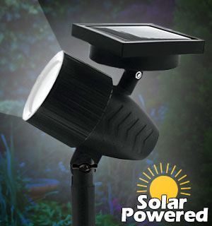 Adjustable Focus Solar Garden Spotlight - Wireless and Waterproof - #8907