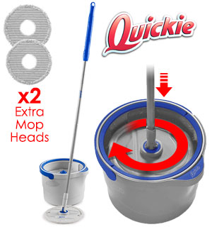 Quickie Clean Water Spin Mop System - #8912
