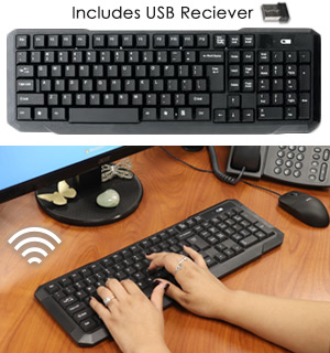 Smooth Touch Quiet Click Wireless Keyboard - #8913