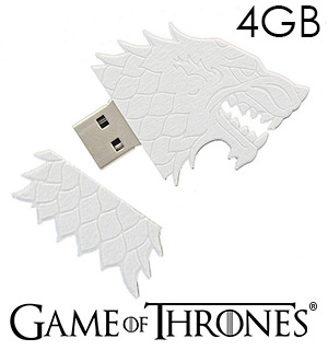 Game of Thrones Stark Sigil USB 4GB Flash Drive - #8917