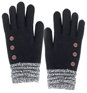 Designer-Styled Ladies Knit Gloves - #8930