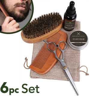 Men's Complete 6pc Beard Grooming Kit - #8949