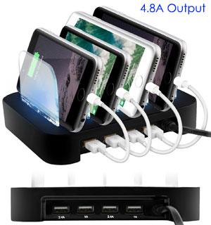 4 Port USB Charging Station - #8960