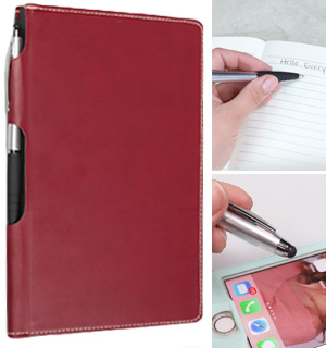 Leatherette Bound Journal with Stylus Pen - #8972
