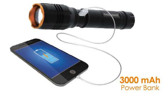 Farpoint 2500LM Rechargeable Flashlight and Power Bank