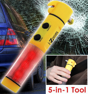 5 in 1 Emergency Auto Tool And Light - #9011