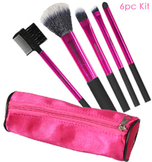6pc Makeup and Brush Set - #9022