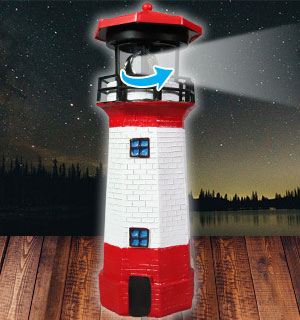 Solar Garden Lighthouse with Rotating Light - #9038