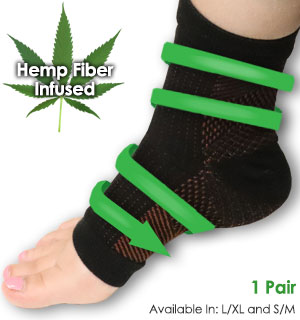Hemp Fiber Anti Fatigue Foot Compression Sleeves With 7 Zones Of … - #9039