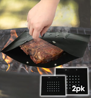 Grill Bags - 2 Non-Stick BBQ Bags - #9040