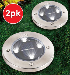 Stunning Solar LED Pathway Lights - Set of 2 - #9043