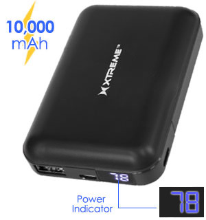 10000mAh Power Bank with Digital LED Display - #9051