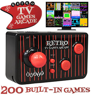Retro TV Games Arcade with 200 Built-In Games - #9053